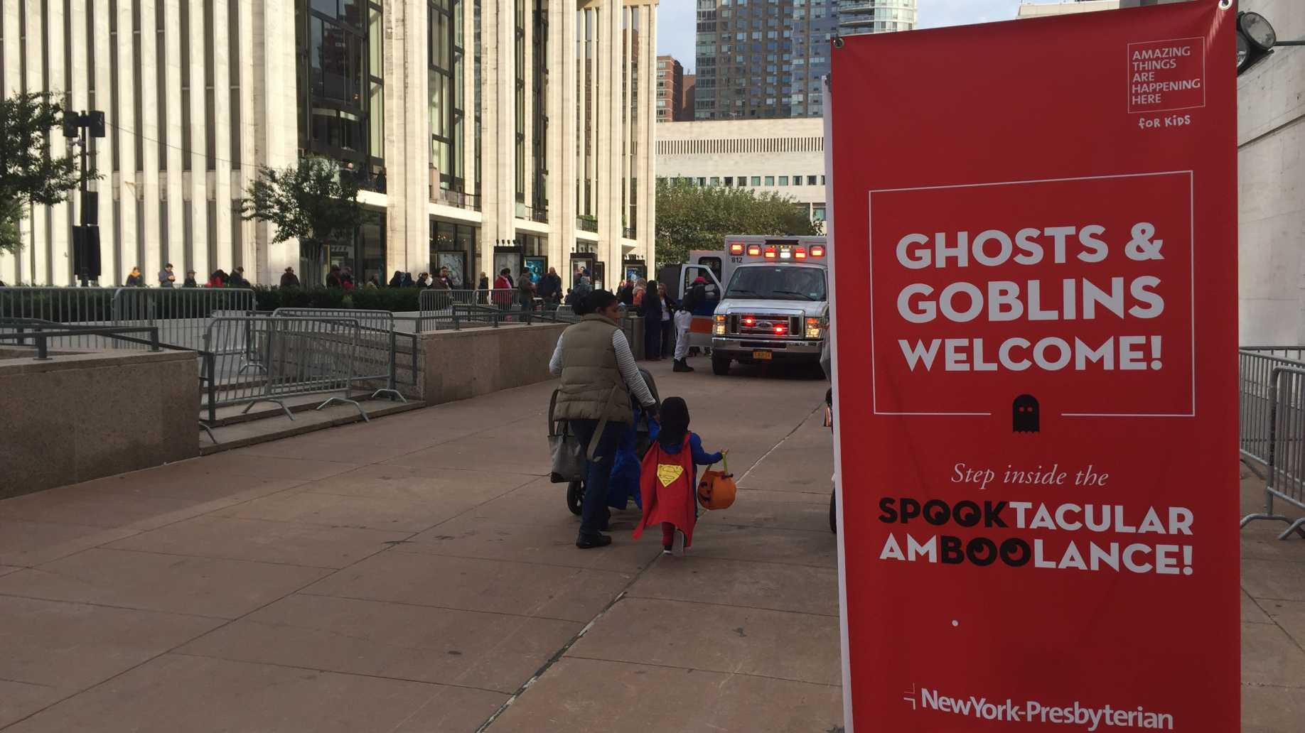 NewYork-Presbyterian hosts spooky ambulance tour during LC Kids Trick-or-Treat event